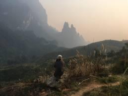 Montagnes au nord de Kasi Laos