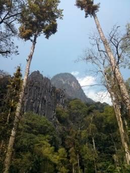 Les falaises de la vallée nord de la Nam Fuang