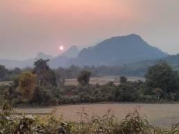 Couché de soleil aux abords de Kasi