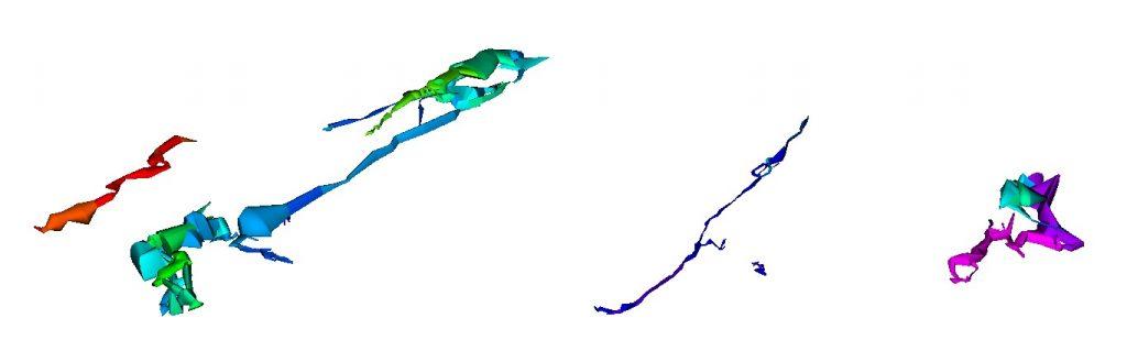 Visualisation d'un ensemble de cavités au sein d'un même massif